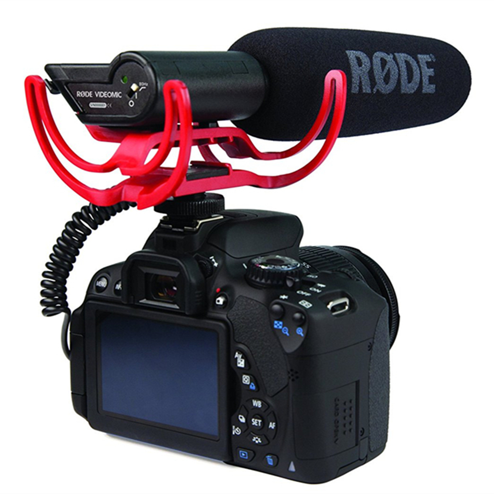 Mount Video-Condenser-Microphone Dslr-Camera DJ Microfone Nikon Lumix Directional Videomic title=