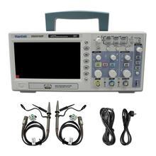 Hantek dso5102p osciloscópio digital 100mhz, 2channels 1gsa/s 7 tft lcd melhor que ads1102cal +