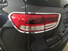 цена на For KIA Sorento L 2015 8PCS ABS Chrome Car Tail lampshader Trim Exterior Decoration Trim Car Styling Accessories