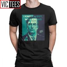 Camiseta masculina do goodman eu sei um cara melhor chamada saul camiseta de algodão série de tv jurídica