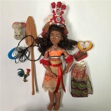 Vaiana moana Boneca princess Movie Waialiki Maui Dolls Model With Music Action Figures Kids Lover Christmas Gift Children Toys