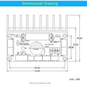 Image 5 - UNISIAN TDA7850 4,0 каналов плата автомобильного усилителя звука 4X50W High Powr TDA7850 четырехканальный усилитель для автомобильной системы auido