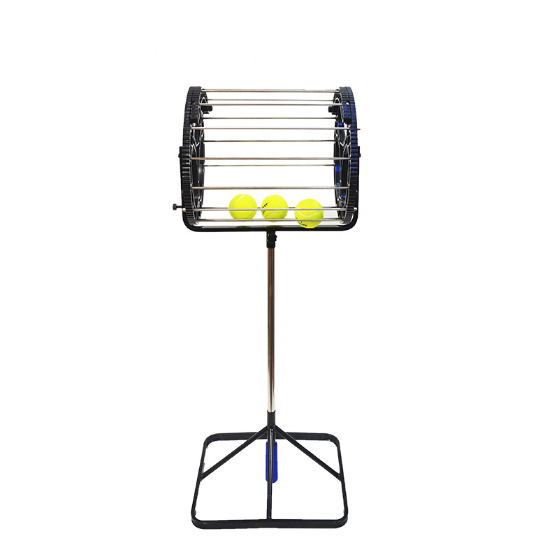 Tennis Trainer Balls Basket Tennis Ball Picker Ball Retriever With Square Handle 80 Balls Capacity Height Adjustable