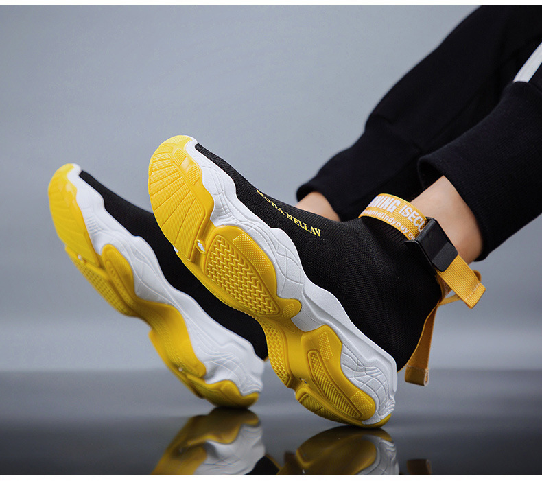 2019 New Sport Athletic Running Shoes Men Brand Sock Sneakers Lace-Up Breathable Jogging Trainers Male Boy Cool Walking Footwear 56