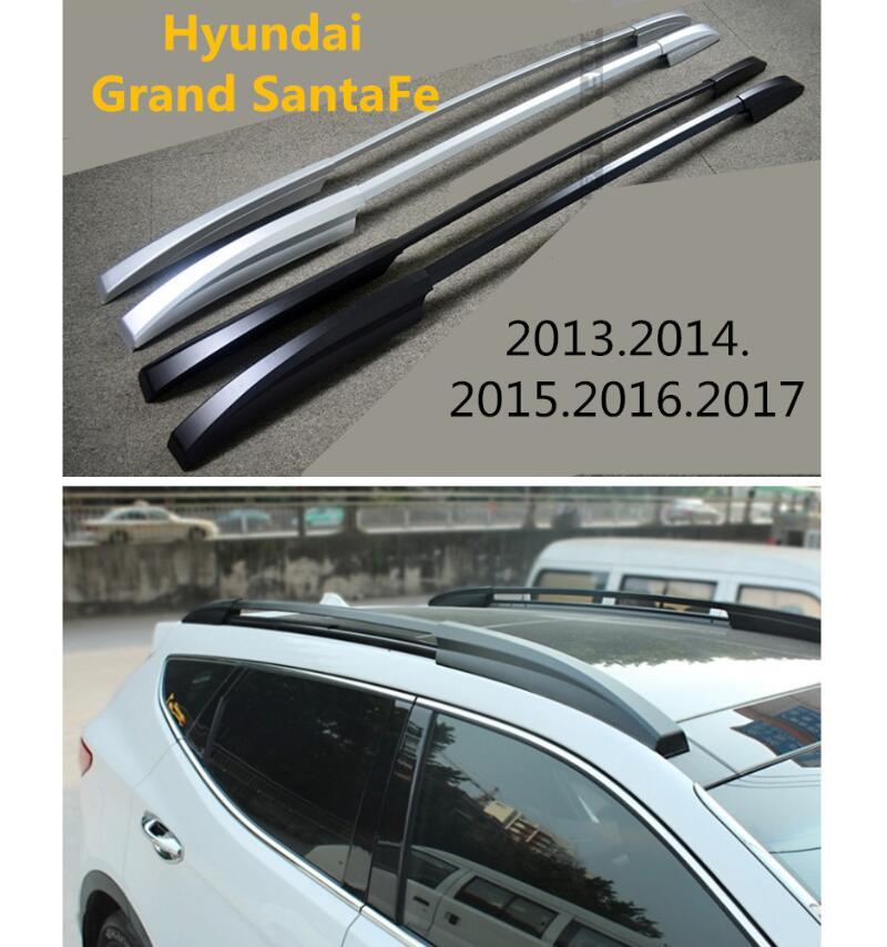 For Auto Roof Racks Luggage Rack For Hyundai Grand SantaFe 2013.2014.2015.2016.2017 High Quality Aluminium Car Accessories Chromium Styling     - title=