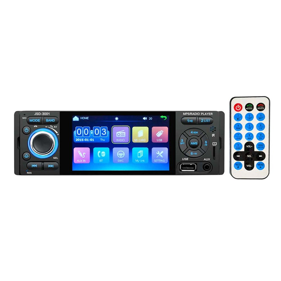 Universal Design Car 4.1 Inch HD Single 1DIN JSD-3001 Car Stereo Video MP5 Player FM Radio AUX Camera Music Player