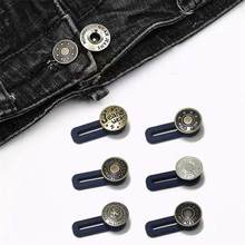 5 pcs Jeans Buttons Jeans Retractable Buttons Metal Extended Buckles Pant Waistband Expander for Men Women(China)