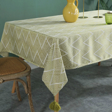 European Joker Jacquard Weave Fabric Art Tablecloth Household Table Pendeloque Cut Cloth Rectangle Tea