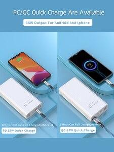 """Image 4 - כוח בנק 40000mah QC 3.0 פ""""ד 18W דו כיוונית מהיר תשלום בנק Power12V Powerbank עבור מחשב נייד/מחברת כוח בנק עבור IPhone 12"""