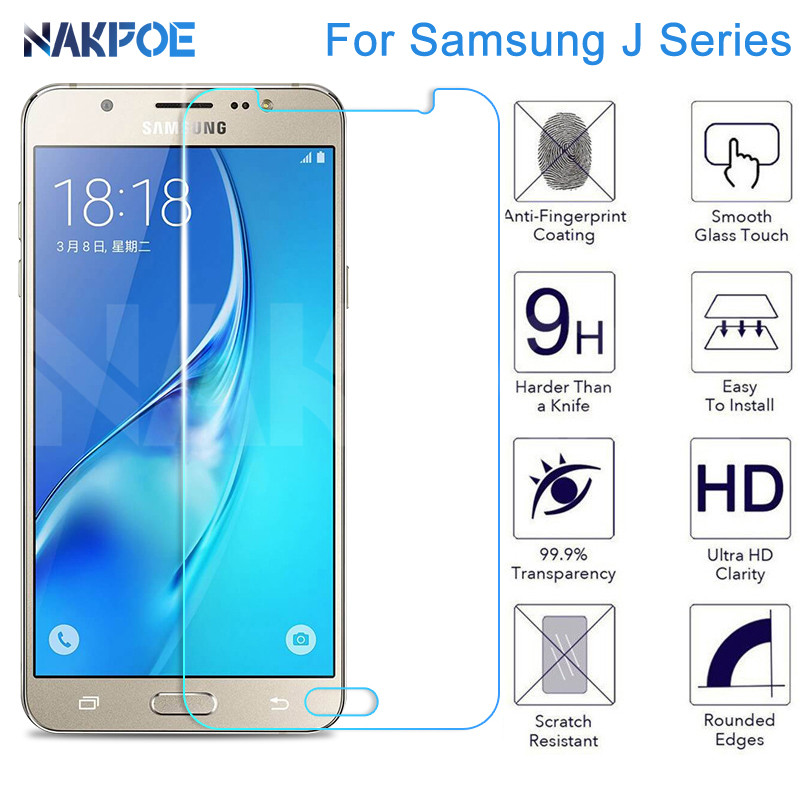 Protective Glass on the For Samsung Galaxy J3 J5 J7 2016 2017 J4 J6 2018 J2 J4 J7 Core Tempered Screen Protector Glass Film Case