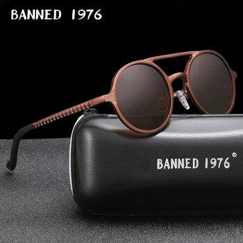 2020 New Aluminum magnesium Frame Sunglasses HD Polarized Women Retro Round Brand Designer Men Quality Sun glasses oculos de sol - discount item  50% OFF Eyewear & Accessories
