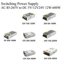 AC DC  5V  12V Power Supply  24V 48V Fonte 500W Transformers 220V To 5 12 24 V Power Supply 5V 12V 24V SMPS Mean well