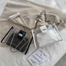 bag antonia moretti bag 2020 summer new female bag fashion shoulder bag transparent bag messenger bag chain bag ladies bag bag mother bag