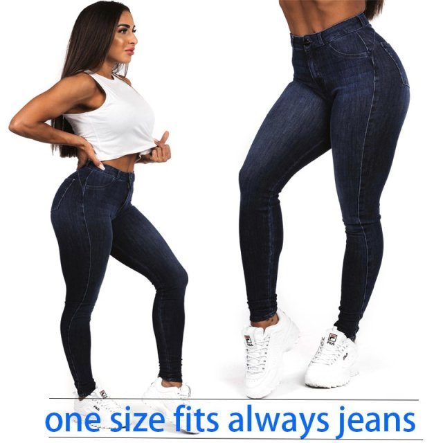 New Women's Super Elastic Jeans Slim Skinny Trousers Fashion Pants Large Size Denim Jean High Street One Size Fit Always Jeans
