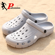 Pool Sandals Clogs Flip-Flops Garden-Shoes Beach-Slippers PULOMIES Mules Outdoor Male