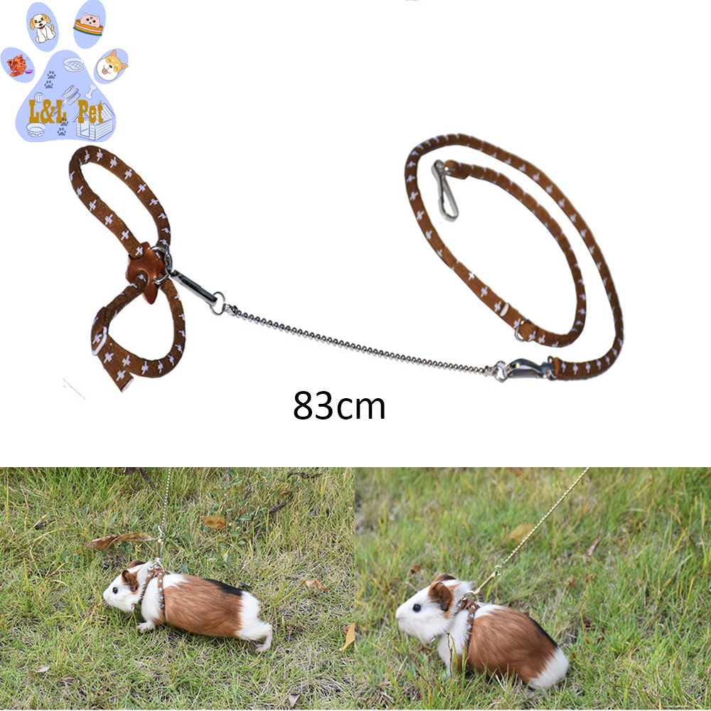 Hamster Traction Rope Hamster Harness Dutch Pig Chest Strap Out Training Lightweight Stylish Walking Tow Rope Small Pet Supplies