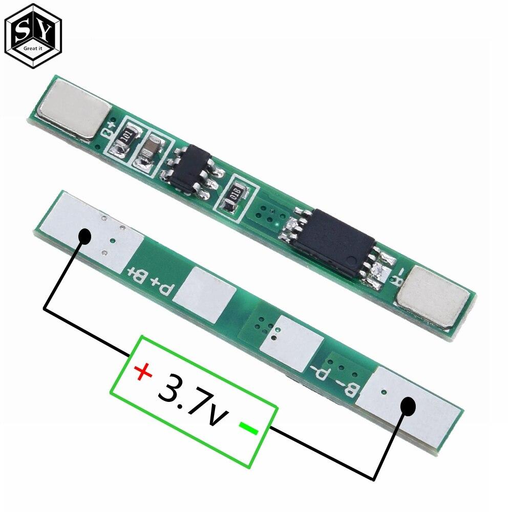 Placa de proteção ótica 1s 3.7v 3a, placa de proteção para bateria de íon de lítio pcm para 18650 peças bateria li li,