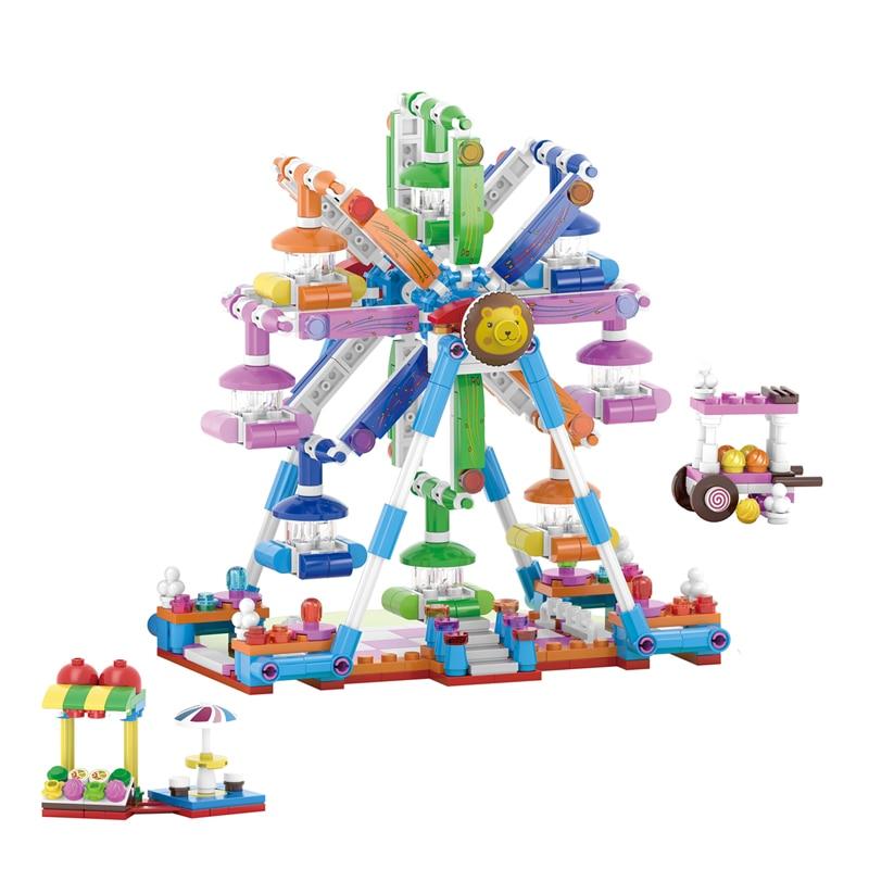 Toys Mermaid-Castle-Set Friends-Series Girls Palace Princess Undersea Building-Blocks