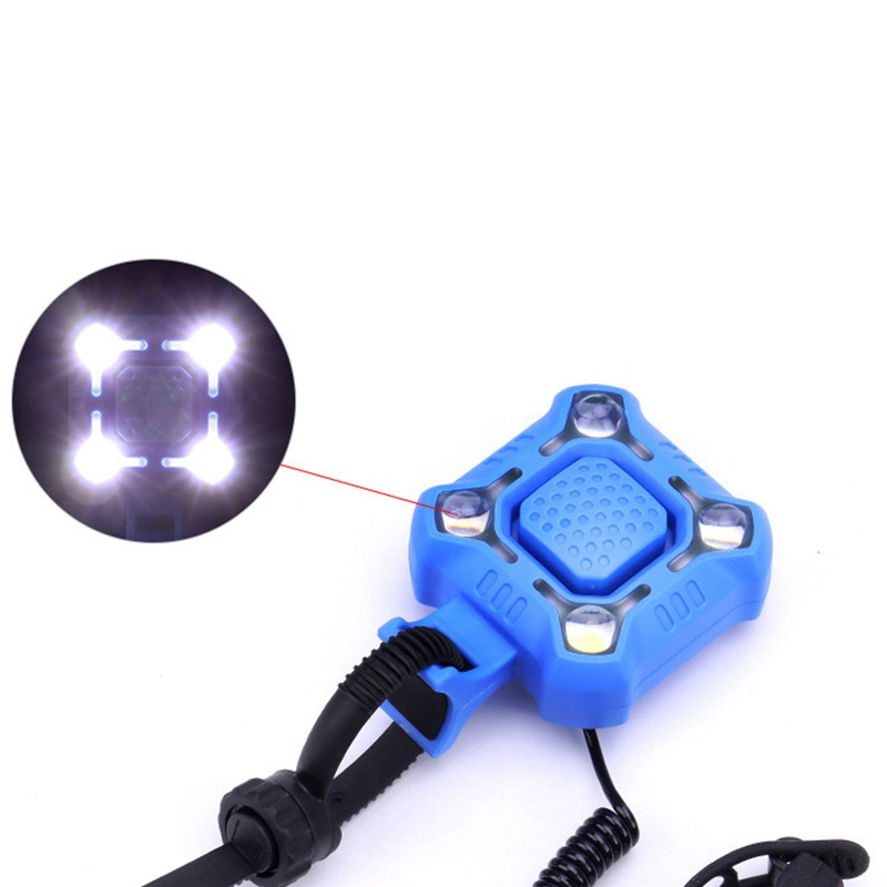 2 In 1 Bicycle Speaker Lamp 120db USB Charging Road Car Handle Front Electronic Speaker Waterproof Bicycle Light Bell in Bicycle Bell from Sports Entertainment