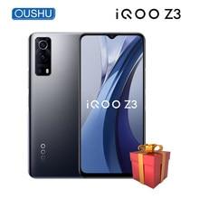 Original novo 5g iqoo z3 telefone móvel snapdragon 768g 4400mah 55w flash carga celular 6.58 celsmartphone 120hz tela de corrida 64mp smartphone