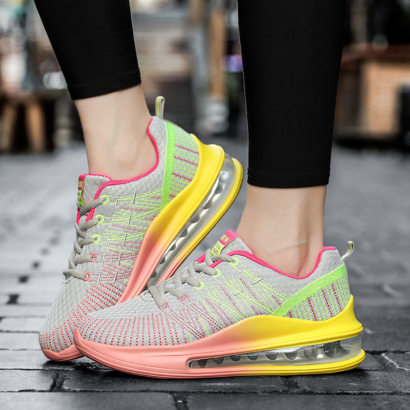 New Air Cushioning Sport Sneakers Women Trainers Tenis Vulcanize Shoes Breathable Outdoor Walking Shoes Women Fitness Sneakers