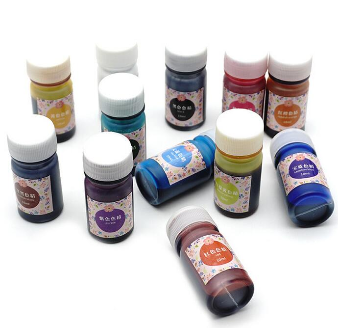 Купить с кэшбэком 12 Bottles Resin Pigment DIY Jewelry Crafts Epoxy Color UV Resin Coloring Dye Colorant 10g