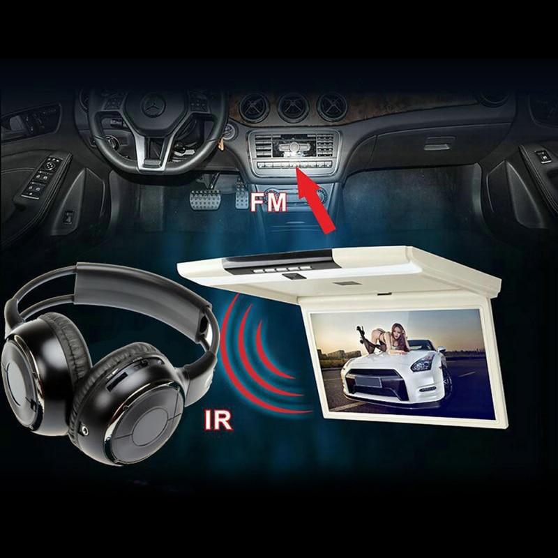 Bluetooth Stereo Headset IR Infrared Headphone Wireless Stereo Car Headphones Headset Dual Channel Earphones New New