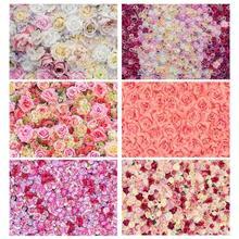 Bellissimi fiori fondali fotografici Computer stampato fotografia sfondo per bambini amanti del matrimonio fotofono di san valentino