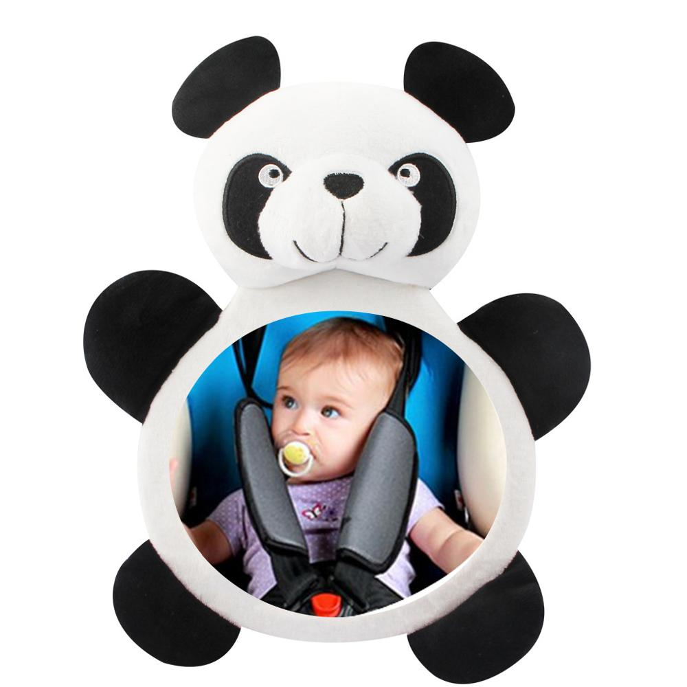 Baby Car Mirror Panda Car Safety View Back Seat Mirror Baby Facing Rear Mirror Infant Care Square Safety Kids Monitor 21*28cm