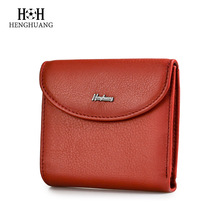 HH Fashion Mini Cow Genuine Leather Women Wallets Ladies Small Wallet Coin Purses ID Card Holder Designer Money Bag Slim Purse
