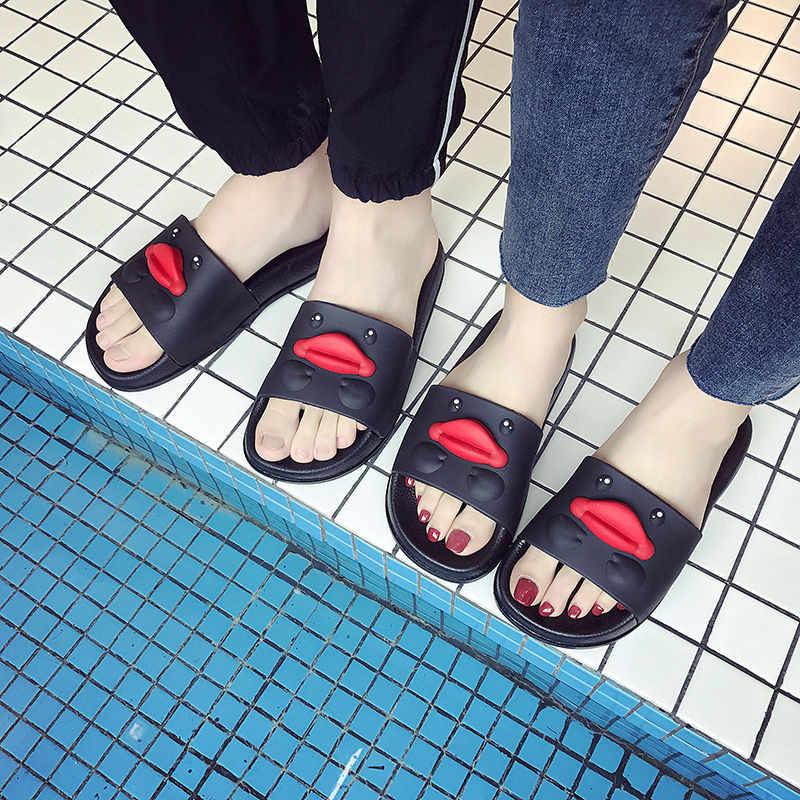 جديد الصيف النساء أحذية لطيف الكرتون بطة النعال المرأة الوجه يتخبط صندل المنزل أحذية حمام عدم الانزلاق شقة السيدات الشرائح