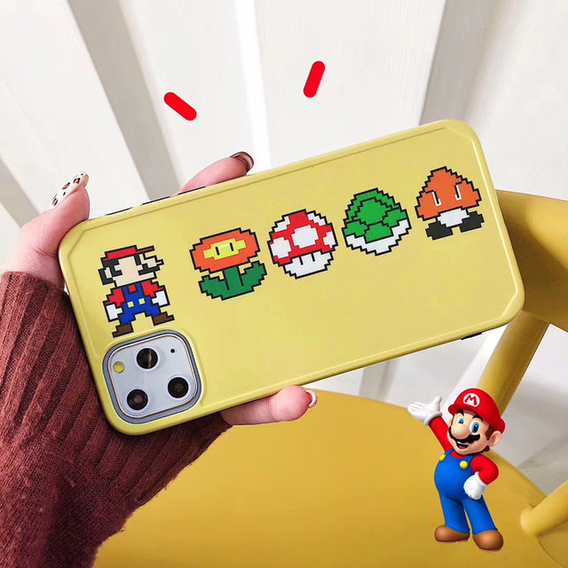 Hot 3D Super Mary mushroom soft silicon cover case for apple iphone 7 8 plus 8plus 11 Pro X XS XR MAX Pac-Man phone coque funda