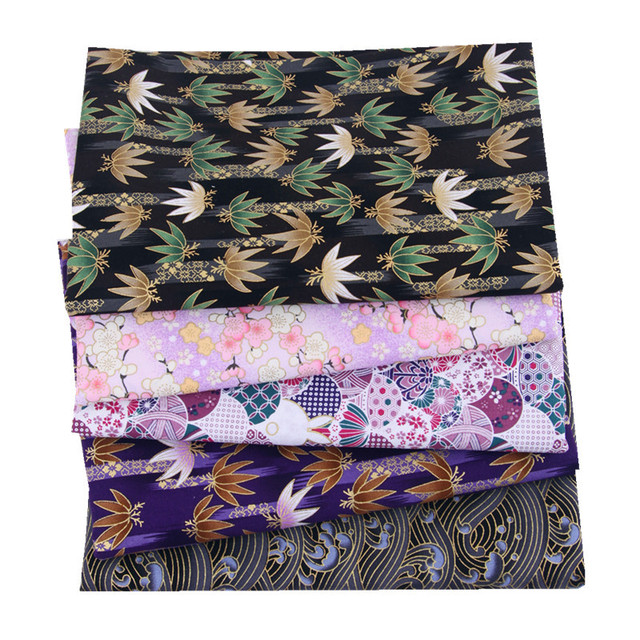5pcs 20x25cm Japanese Printed Cotton Fabric Bundle For Sewing Dolls &Bags, Quilting material DIY Patchwork Needlework 3