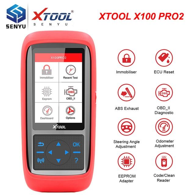 أداة تشخيص السيارات الأصلية Xtool X100 Pro2 أداة برمجة مفتاح وحدة التحكم الإلكترونية OBD2 عداد المسافات تصحيح الأميال X100 Pro 2 OBD 2 OBD2 أداة تشخيص السيارات