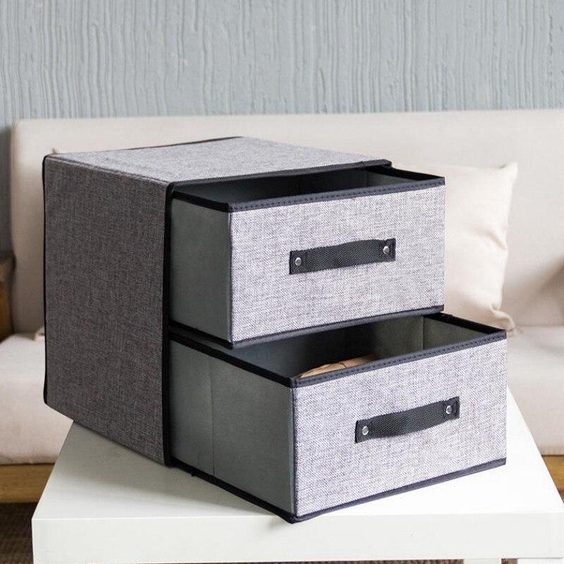 Складная коробка для хранения одежды, нижнее белье, бюстгальтер, галстук, шарф, органайзер для одежды, шкаф, контейнер, аксессуары, принадлежности