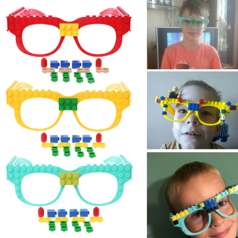 New Glasses Blocks Baseplate DIY Toy Glasses Frame Brick Compatible With Legoed Party Christmas Favors Carnival Decoration