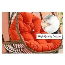 Ovo grosso cadeira almofada lazysofa esteira interior ao ar livre para pátio varanda quarto pendurado balanço macio quente com algodão puro no inverno