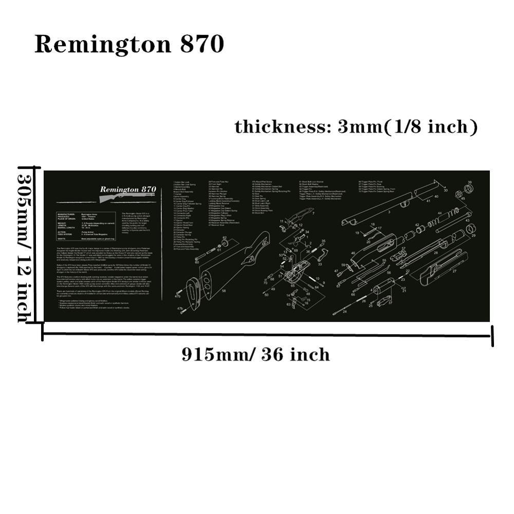Большой чистящий коврик для ружья AR15 AK47 Glock 1911 SIG винтовка пистолет оружейный оружейник разборка ремонт набор инструментов для сборки скамьи колодки - Цвет: Remington 870