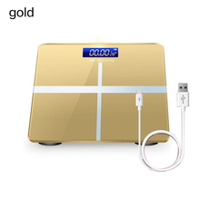 Bathroom Floor Body Scale Glass Smart Electronic Scales USB Charging LCD Display Body Weighing Digital Weight Scale