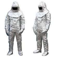 Огнеупорный изоляционный костюм 500 °C высокотемпературный анти-скальдинг излучения защитная одежда защитный изолированный огнеупорный высококачественный костюм DFH001