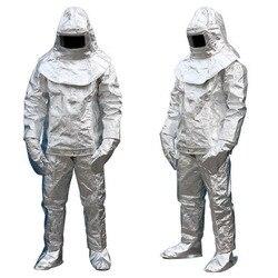 Fuoco di Isolamento Vestito 500 °C Radiazione di Protezione Ad Alta Temperatura Anti-scottatura Panno di Protezione Isolante a prova di Fuoco Vestito DFH001