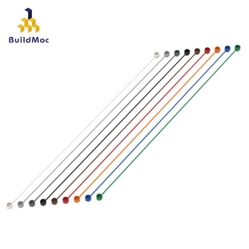 BuildMOC Compatible Assembles Particles 63142 1x30 Cord Building Blocks Parts DIY LOGO Educational Creatives Gift Toys