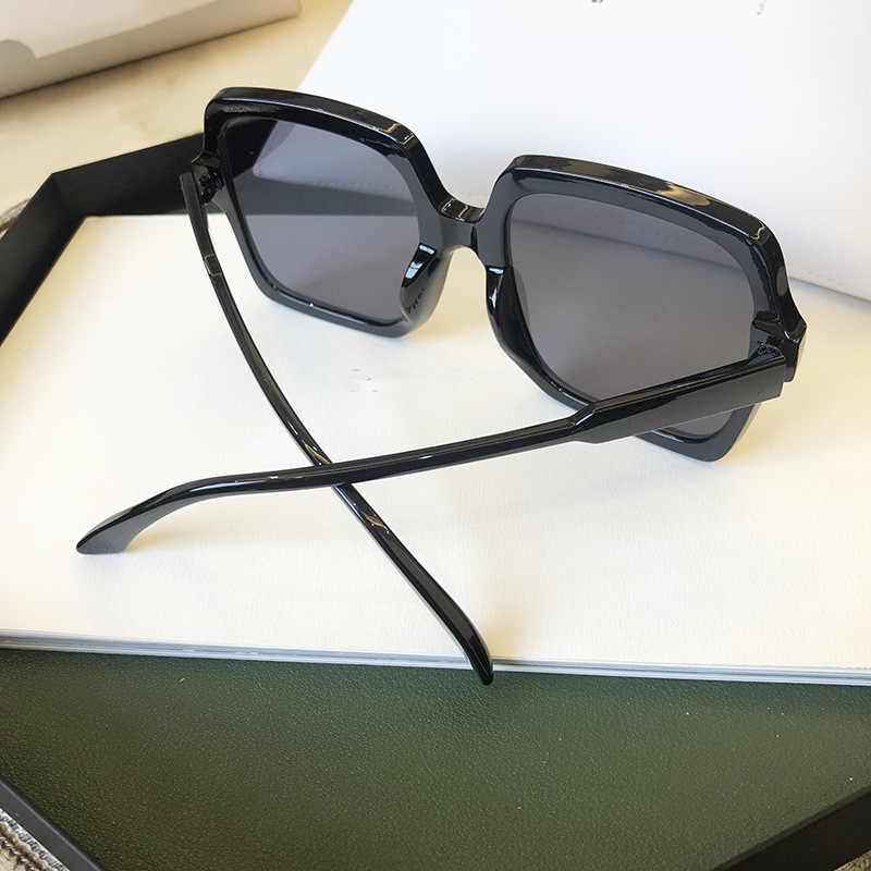 عالية الجودة العلامة التجارية تصميم النساء النظارات الشمسية الفاخرة سيدة ساحة مكبرة امرأة 2020 التدرج الوردي عدسات زرقاء اللون الرجال النظارات