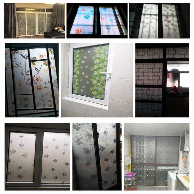 Film On The Window Bathroom Sliding Glass Doors Toilet Translucent Glass Film Self Adhesive Window Film Sticker Fensterfolie Glass Stickers Glass Door Filmbathroom Window Film Aliexpress
