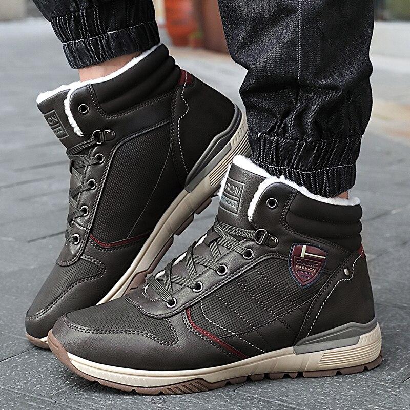 Bottes d'hiver en caoutchouc pour hommes bottes de neige en bois land Cowboy chaussures hommes chelsea bottes en cuir cheville chaude calzado hombre