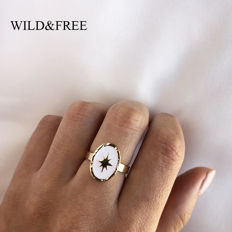 Sterling Silver star ring Sizes 7   S718