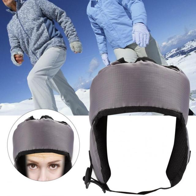 Elderly Soft Adjustable Safety Cap Hats Head Care Hat Protection Anti-Collision Helmet Ear Care Head Protection Cap Health Care
