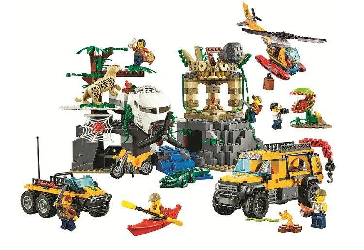 Bela 10712 Ungle Jungle Exploration Site bloc de construction jouets enfants cadeaux villes compatibles avec Legoinglys ville Jungle 60161