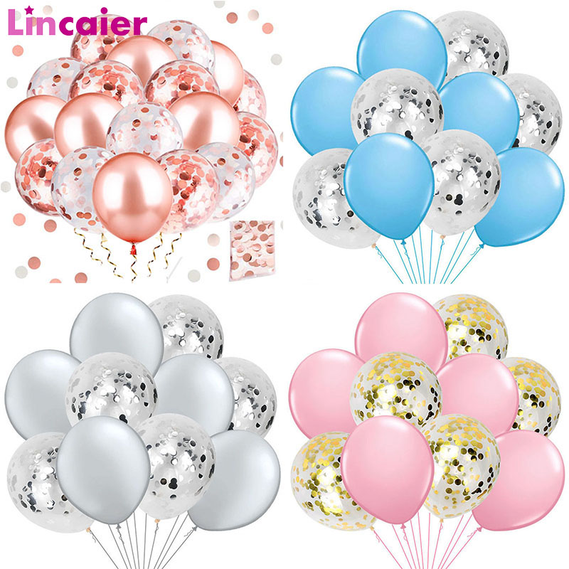 10pcs Mixed Confetti Balloon Wedding Decoration Baby Shower Its A Girl Boy Babyshower Bachelorette Hen Party DIY Table Supplies