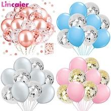 Lote de 10 Uds de globos de confeti mezclados para decoración de bodas para Baby Shower es una fiesta de despedida de soltera para niños y niñas DIY artículos para mesa